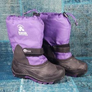 Kamik Waterproof Snow Boots Size 4 Purple